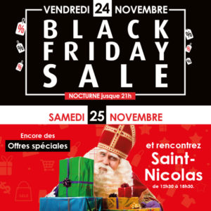 Black Friday & Saint-Nicolas : 2 journées de folie vous attendent au Shopping Wilson !